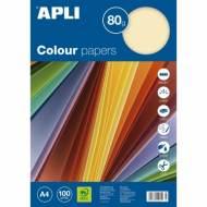 APLI 15281. Papel de 80 gr. A4 color marfil (100 hojas)