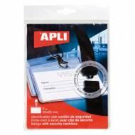 APLI 11743. Bolsa 5 identificadores con cordón (90 x 56 mm)