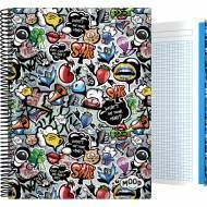 GRAFOPLÁS 16502624. Cuaderno tapa dura A4, 100 hojas, Mood Deck