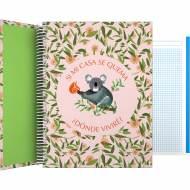 GRAFOPLÁS 16502629. Cuaderno tapa dura A4, 100 hojas, Planet Koala