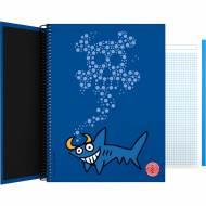 GRAFOPLÁS 16502633. Cuaderno tapa dura A4, 100 hojas, Katuki Shark