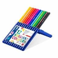 STAEDTLER 157 SB12. Estuche 12 lápices triangulares ergosoft aquarell. Colores surtidos