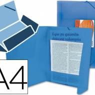 Liderpapel 25614. Carpeta  con gomas y solapas DIN A4 de polipropileno azul