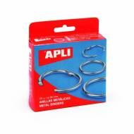 APLI 00451. 20 anillas metálicas articuladas (20 mm.)