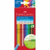 FABER CASTELL 112412 Color Grip Estuche de 12 ecolápices de colores surtidos
