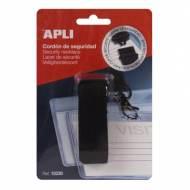 APLI 15238. Cordón de seguridad para identificador negro (900 x 20 mm)