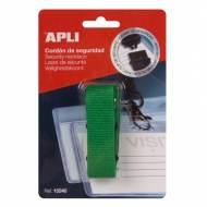 APLI 15240. Cordón de seguridad para identificador verde (900 x 20 mm)