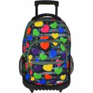 GRAFOPLAS 37502602. Mochila escolar con ruedas Bits & Bobs Heart