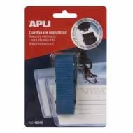 APLI 15241. Cordón de seguridad para identificador azul (900 x 20 mm)