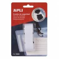APLI 15242. Cordón de seguridad para identificador blanco (900 x 20 mm)