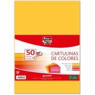 GRAFOPLAS 00001494. Pack 50 cartulinas Fixo paper A4 de 180  gr. Colores fuertes I