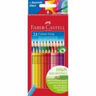 FABER CASTELL 112424 - Color Grip. Estuche de 24 ecolápices de colores surtidos