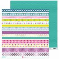 GRAFOPLAS 37011919. Papeles scrapbooking (Tiras) colección Mosaico