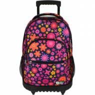 GRAFOPLAS 37502603. Mochila escolar con ruedas Bits & Bobs Flowers