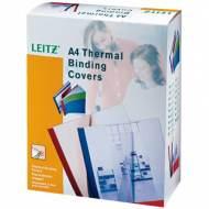 Leitz 177163 Pack 100 tapas para encuadernación térmica, 10.0 mm. Color blanco