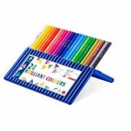 STAEDTLER 157 SB24. Estuche 24 lápices triangulares ergosoft aquarell. Colores surtidos