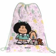 GRAFOPLAS 37610534. Mochila saco con cuerdas Mafalda Flores