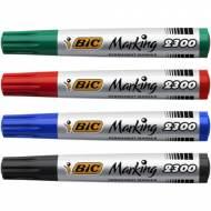 BIC Marking 2300. Marcador permanente con punta biselada. Trazo 3 a 5.5 mm. Colores
