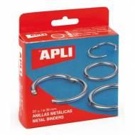 APLI 00454. 20 anillas metálicas articuladas (38 mm.)