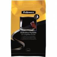 Fellowes 9967404. Pack de 25 toallitas limpiadoras pantallas para portátil