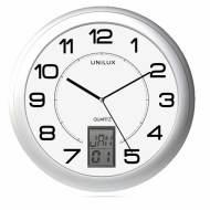 Unilux 100340853. Reloj de pared INSTINCT gris metalizado