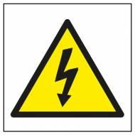 APLI 10951. 10 etiquetas de señalización RIESGO ELÉCTRICO (114 x 114 mm.)