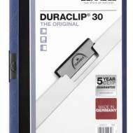 DURABLE 220007. Dossiers con clip Duraclip 30 A4. Capacidad 30 hojas Azul