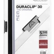 DURABLE 220002. Dossiers con clip Duraclip 30 A4. Capacidad 30 hojas Blanco