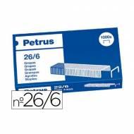 PETRUS 55711 Caja de 1000 grapas galvanizadas. Tipo 26/6