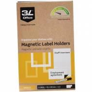 3L Pack 3 portaetiquetas magnético (55 x 102 mm.) - 10835