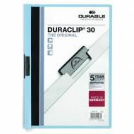 DURABLE 220006. Dossiers con clip Duraclip 30 A4. Capacidad 30 hojas Azul claro