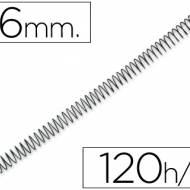 Q-Connect KF04432. Caja de 100 espirales metálicas negras 16 mm