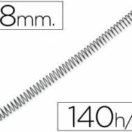 Q-Connect KF04433. Caja de 100 espirales metálicas negras 18 mm