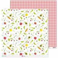 GRAFOPLAS 37018660. Papeles scrapbooking (Verduras) colección Mis recetas