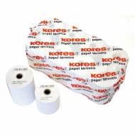 KORES 66658300. Pack 8 rollos de papel térmico de 80x45x12 mm.