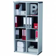 PAPERFLOW BM8K2.11 Mueble biblioteca 8 compartimentos. Gris (155,4 x 79 x 33 cm)