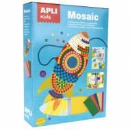 APLI 14291. Kit manualidades Mosaico goma eva Transportes