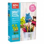 APLI 14350. Kit manualidades Costura Wild Funny Pencils