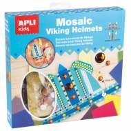 APLI 14362. Kit manualidades Mosaico goma eva Cascos Vikingo