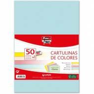 GRAFOPLAS 00001793. Pack 50 cartulinas Fixo paper A3 de 180  gr. Colores claros