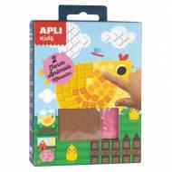 APLI 14487. Mini kit manualidades Mosaico animales granja