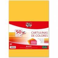GRAFOPLAS 00001794. Pack 50 cartulinas Fixo paper A3 de 180  gr. Colores fuertes I