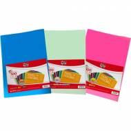 GRAFOPLAS 00650098. Pack 100 hojas de papel 80 gr. Colores flúor surtidos