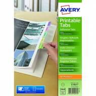 AVERY 05412501. Pestañas adhesivas imprimibles - Juego 96 ud - Colores surtidos