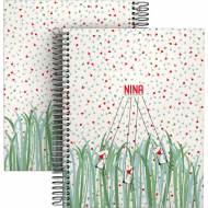 GRAFOPLÁS 16512616. Cuaderno tapa dura A5, 90 hojas, Nina Nature