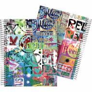 GRAFOPLÁS 16512618. Cuaderno tapa dura A5, 90 hojas, Diverse Relax