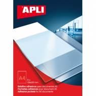 APLI 02576. Bolsillos adhesivos con solapa para A5 (158 x 218 mm)