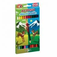 ALPINO AL000169. Estuche de 12 lápices de colores doble punta