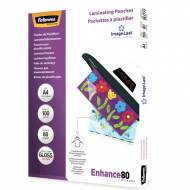 Fellowes 5306114. Pack 100 Fundas Plastificar 80 micras Brillo A4