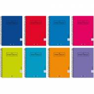 PAPYRUS 88453099 Cuaderno de 80 hojas tapa extra, 4º Cuadrícula 4x4. Colores surtidos